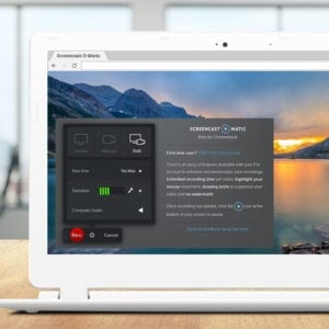 Screenshot of the Screencast-O-Matic screen recorder for Chromebook