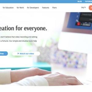 Screenshot of Screencast-O-Matic's new website design